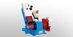 Belt grinding machines for platen processing and for rubber wheel processing