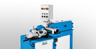 Belt gringing machines for straight tubes