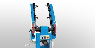 Swing belt grinding machines for rubber wheel processing