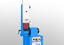 Swing belt grinding machines for platen processing